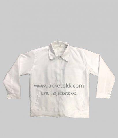 เสื้อแจ็คเก็ตสำเร็จรูปสีขาว
