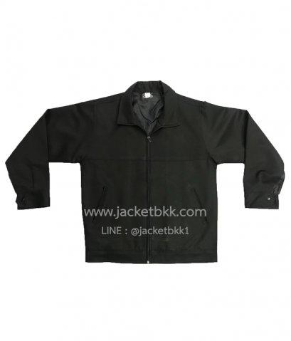 Jacket เสื้อแจ็คเก็ตสำเร็จรูป ผ้าลีวาย สีดำล้วน เนื้อนุ่มใส่สบาย