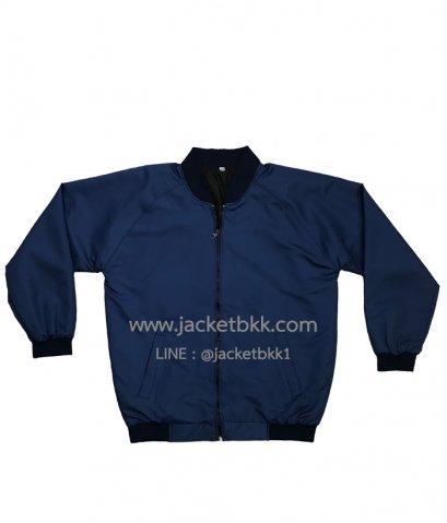Jacket เสื้อแจ็คเก็ต ทรางเบสบอลสีกรมท่า ปกดำ