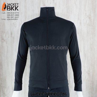 เสื้อแจ็คเก็ต ผ้าขูดขน สีดำ