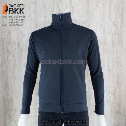 เสื้อแจ็คเก็ต ผ้าขูดขน สีกรมท่าเข้ม