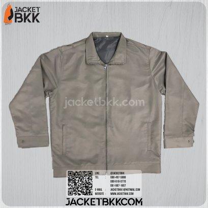 เสื้อแจ็คเก็ต ผ้าลิปต็อป สีเทา