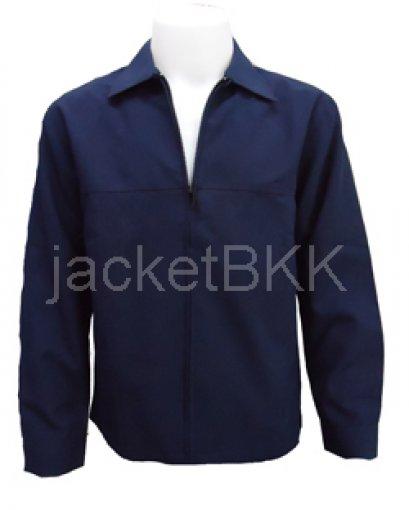 เสื้อแจ็คเก็ต คอปกผ้าสมูธ (ฟ้าอ่อน ครีม ขาว ชมพูอ่อน ดำ กรมท่า และสีขี้ม้า) - Premium grade