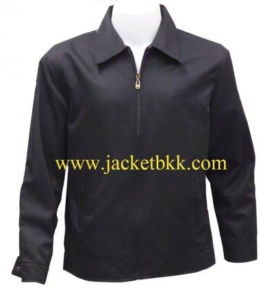 Jacket เสื้อแจ็คเก็ตนำเข้า คอปกสีดำ