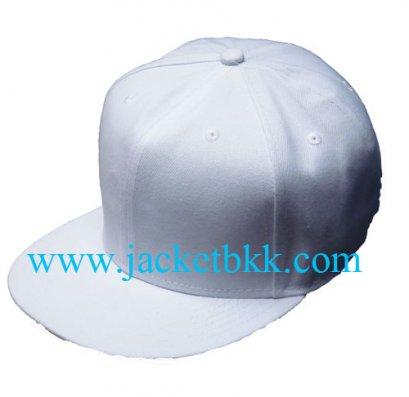 หมวกฮิปฮอป ผ้าลีวายสีขาว