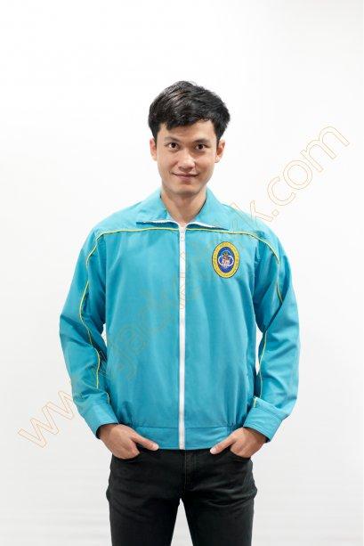 เสื้อแจ็คเก็ตสีฟ้า2