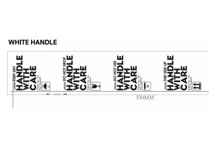 (White handle) เทปพิมพ์ลาย เทประวังแตก tape fragile