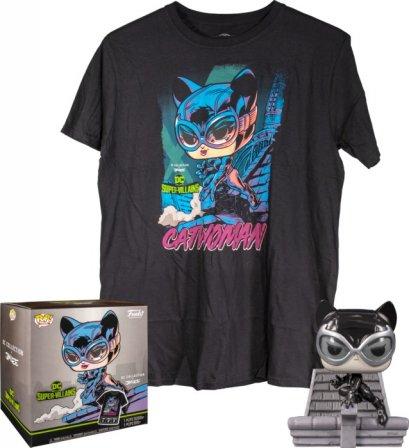 Funko Pop! Tee Box Set : Batman - Catwoman Black