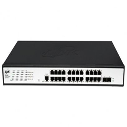 PG-4026 : 26 - Port L2 Managed Gigabit Switch, 24 GE +2 SFP (GE)