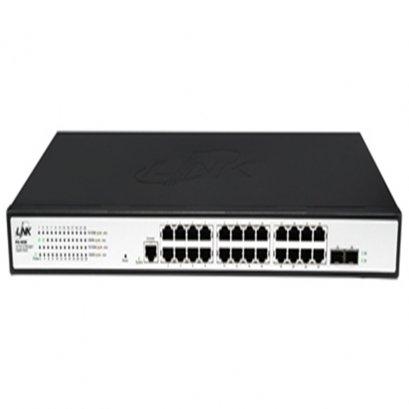 PG-4026 : 26 - Port L2 Managed Gigabit Switch, 24 GE +2 SFP (GE)