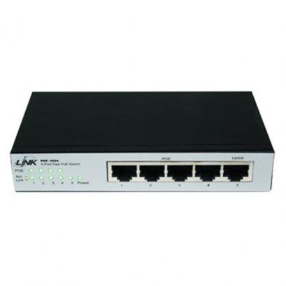 PSF-1004 : 4 - Port Fast Ethernet PoE SWITCH (AC60W) 4 FE (PoE) + 1 FE