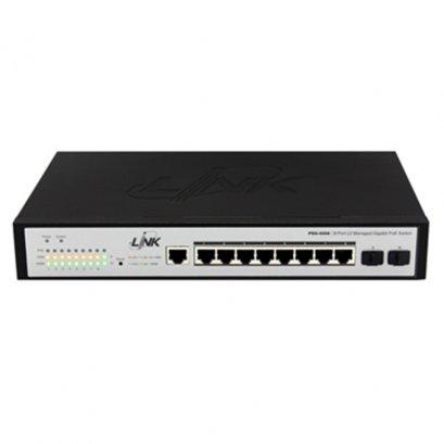 PSG-5008 8 - Port L2 Managed Gigabit PoE Switch (80w) 8 GE (PoE) + 2 SFP(GE)