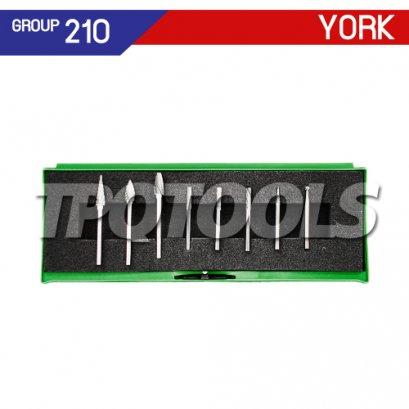 ชุดดอกเจียร์คาร์ไบด์ 8 ตัว แกน 3 มม. YRK-210-9896K