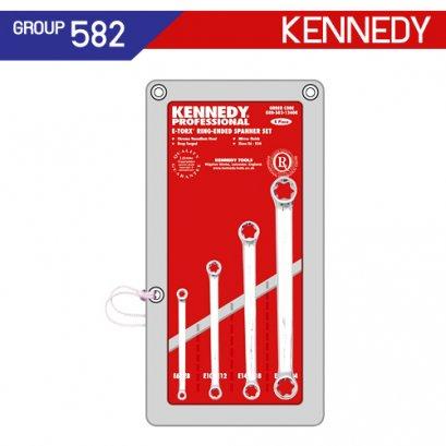 ชุดประแจแหวน 4 ตัว (TORX) KEN-582-1240K