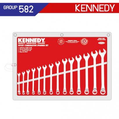 ชุดประแจแหวนข้างปากตาย 14 ตัว (MM) KEN-582-3898K