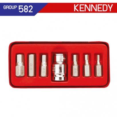 1/2 SQ DR ชุดลูกบล็อก 7 ชิ้น KEN-582-7900K