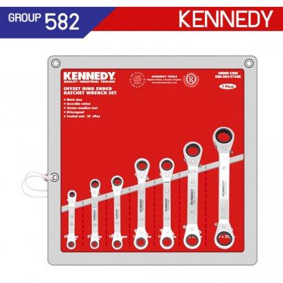 ชุดประแจแหวนฟรี ออฟเซ็ต (MM - AF) KEN-582-9750K , KEN-582-9760K