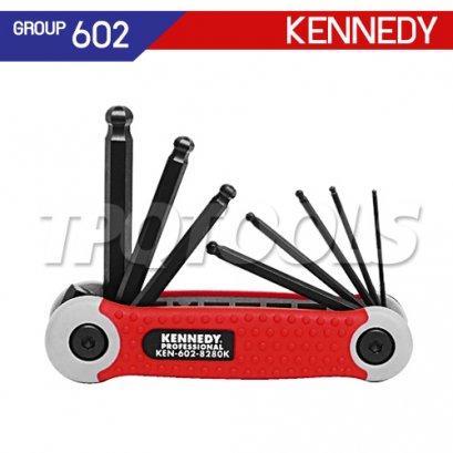 ชุดประแจหกเหลี่ยมหัวบอล KEN-602-8280K , KEN-602-8390K