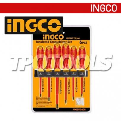 ชุดไขควงด้ามกันไฟฟ้า 6 ตัว/ชุด INGCO