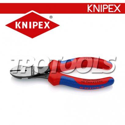 KN7402160คีมตัดลวด คีมตัดปากเฉียง 160มม.ด้าม TWOTONE