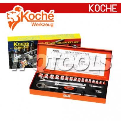 """KCH017S บล็อกชุด 19 ตัวชุด SQ.DR.1/4"""""""