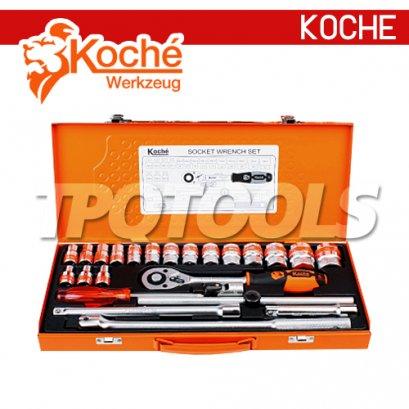 KCH034 บล็อกชุด 25 ตัว/ชุด (หุน) SQ-DR.1/2