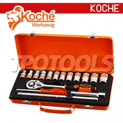KCH037 บล็อกชุด 17 ตัว/ชุด  SQ-DR.1/2
