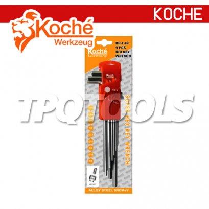 KCHW01SL ชุดประแจหกเหลี่ยมตัวยาว 9 ตัว/ชุด