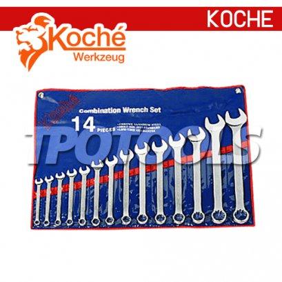 KCH08S ชุดประแจแหวนข้างปากตาย ( ชุด )