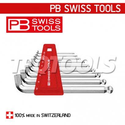 PB2212H10 ชุดประแจหกเหลี่ยมหัวบอล แบบสั้นคอสั้น