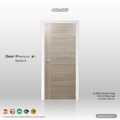 ประตูไม้เมลามีน iDoor S4 สี White Teak