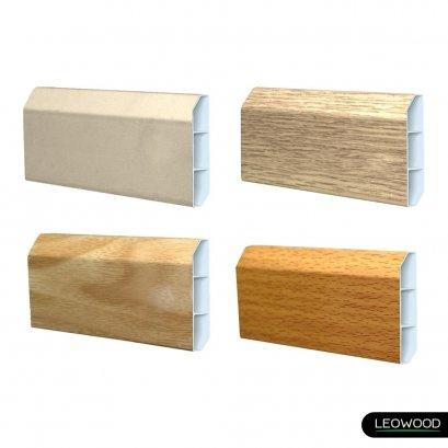 บัวเชิงผนัง PVC 4 นิ้ว ใช้สำหรับการปิดช่องว่างระหว่างพื้นไม้และผนัง ทำให้ได้งานพื้นที่สวยงาม