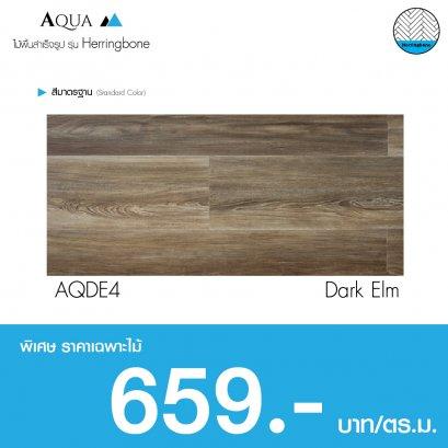 Aqua Herringbone : Dark Elm