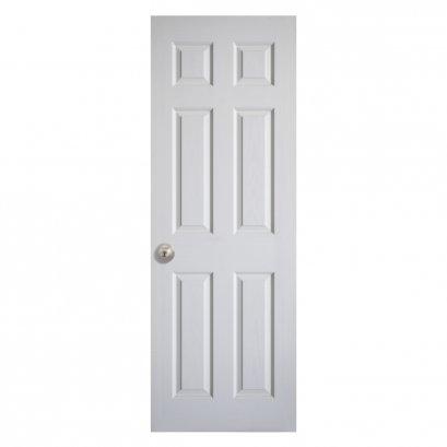 ประตูลูกฟัก 6 ตรง สีขาว 70x200ซม.