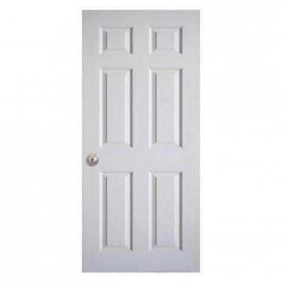 ประตูลูกฟัก 6 ตรง สีขาว 90x200ซม.