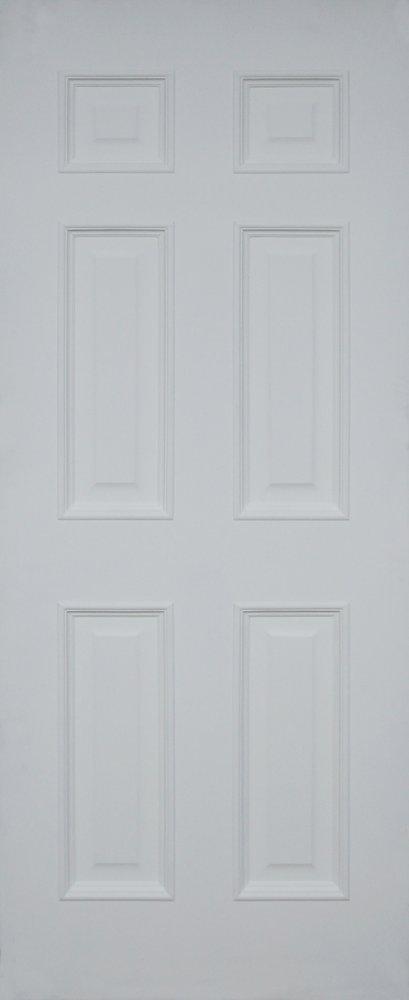 Leo nic : ประตูลูกฟัก 6 ตรง MDF สีแล็กเกอร์ขาว