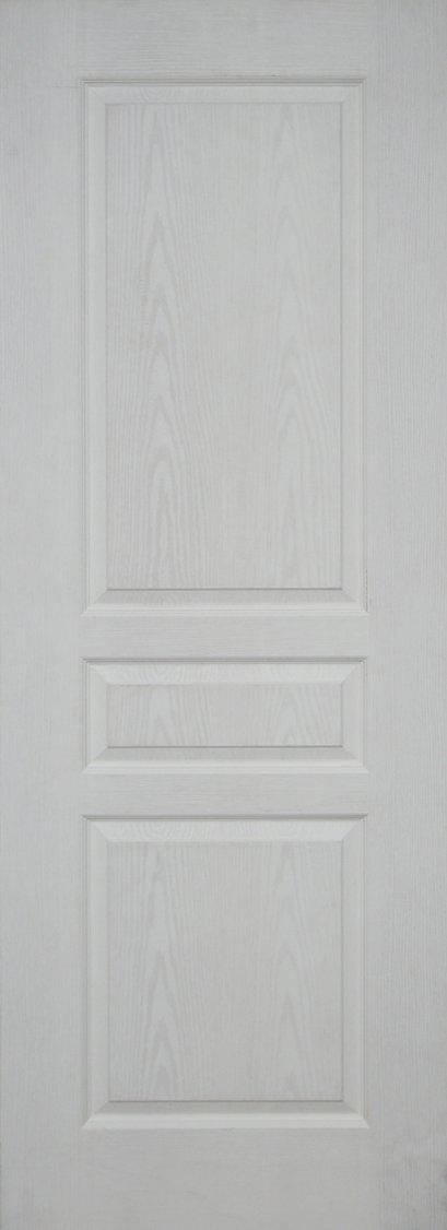 Leo Dore' : ประตูลูกฟัก 3 ตรง ผิวลายไม้ สีรองพื้น