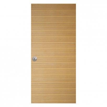 ประตูไม้อัด สำหรับใช้งานภายใน วิเนียร์ไม้สัก ลายขวาง