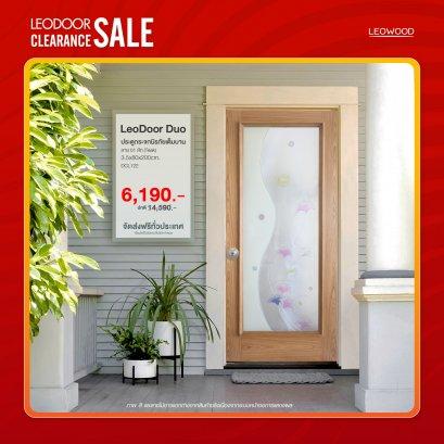 LeoDoor-Duo : ประตูกระจกนิรภัยเต็มบาน ลาย 01 สักขนาด 3.5x80x200 ซม.