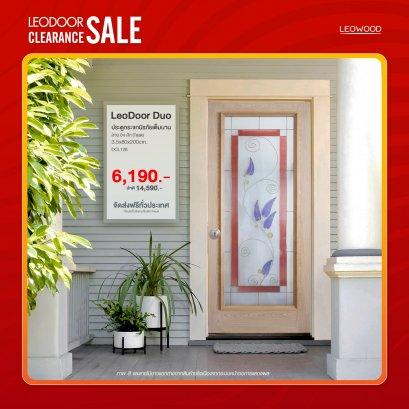 LeoDoor-Duo : ประตูกระจกนิรภัยเต็มบาน ลาย 04 สักขนาด 3.5x80x200 ซม.