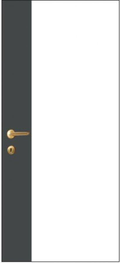 iDoor Pantone Series : Pearl White - Graphite Grey
