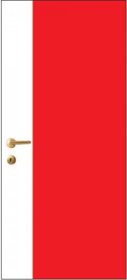 iDoor Pantone Series : Ruby Red - Pearl White