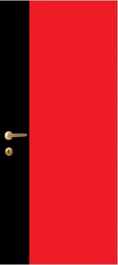 iDoor Pantone Series : Ruby Red - Jet Black
