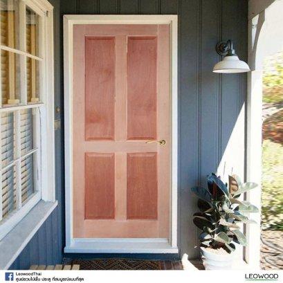 Leo Panel V : ประตูสยาแดง ลูกฟัก 4 ตรง ไม่ทำสี