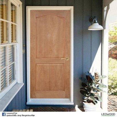LeoDoor : ประตูลูกฟัก 2 โค้ง-สยาแดง ไม่ทำสี