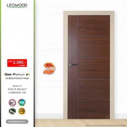 ประตูไม้เมลามีน iDoor S4 สี Walnut