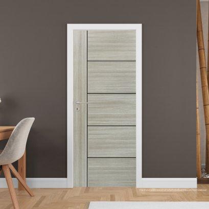 ประตูไม้เมลามีน สี TangoA Series4 แบบเซาะร่อง