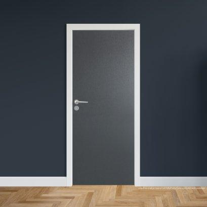 ประตูไม้เมลามีน สี Platinum Grey Series5 แบบบานเรียบ