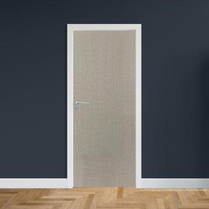 ประตูไม้เมลามีน สี Silver Series5 แบบบานเรียบ