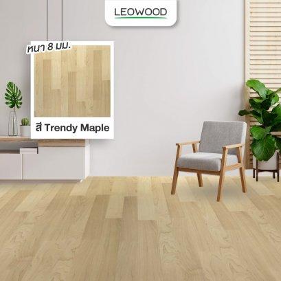 พื้นไม้ลามิเนตโทนสีครีมความหนา 8 มม. สี trendy maple